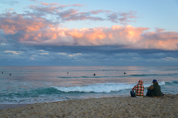 Watching the surfers